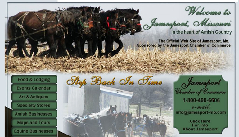 Jamesport Missouri Website