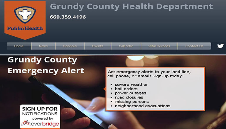 Grundy County Health Department Website