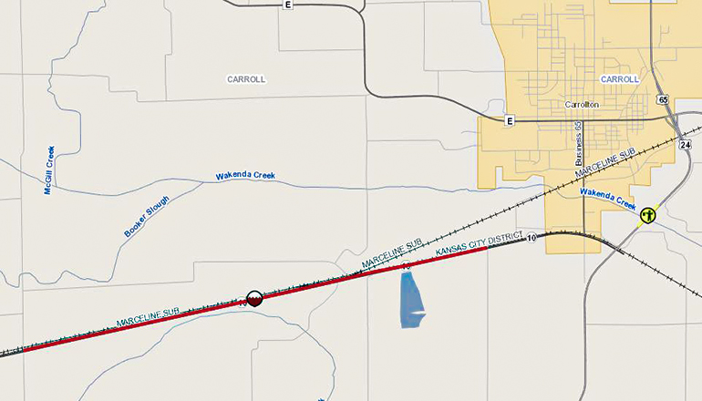 Highway 10 West of Carrollton Closed due to Flooding